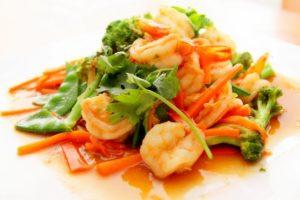 Thai Food Shrimp Dish