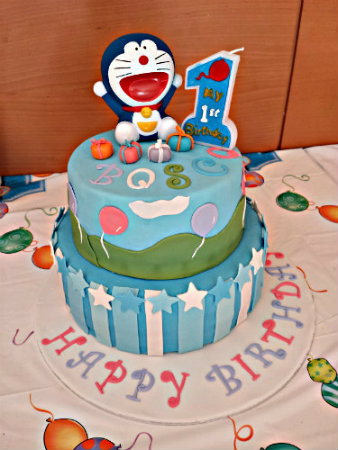 Doraemon Birthday Cake Images : Pin Kitchen Doraemon Cupcakes Cake on Pinterest